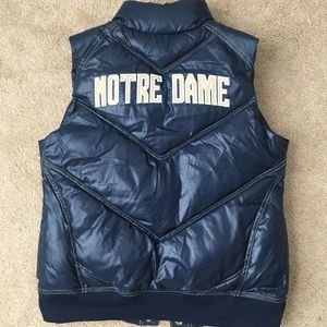 NWT Adidas Notre Dame Fighting Irish Quilted Vest